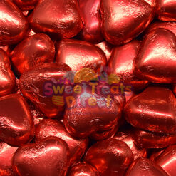 Valentines Red Chocolate Hearts