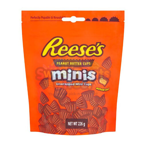 Reeses Pieces Mini Peanut Butter Cups Pouch 226g