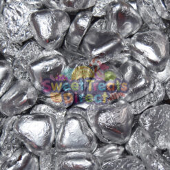 Valentines Silver Chocolate Hearts